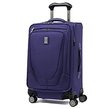 Travelpro Luggage Crew 11 21  Carry-on Expandable Spinner with Suiter and USB Port, Indigo