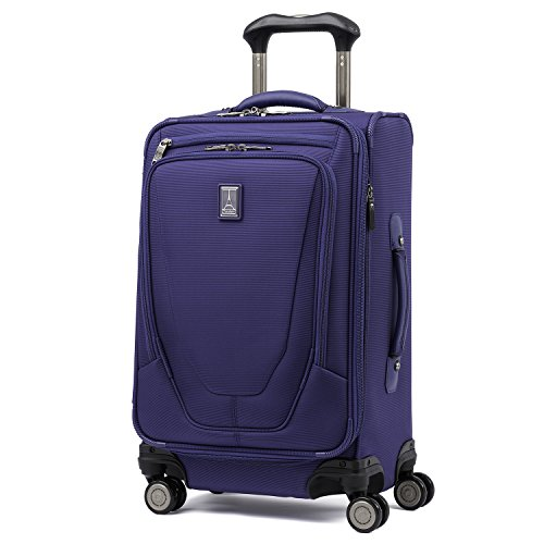 Travelpro Crew 11-Softside Expandable Luggage with Spinner Wheels, Indigo, Carry-On 21-Inch