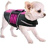 FR&RF - Salvagente salvavita per cani, con impugnatura di emergenza, per cani piccoli, medi e grandi dimensioni, in piscina, spiaggia, rosa, XS