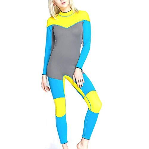 HWHSZ Siamesische Frau Taucheranzug Surf Kleidung Wasserdicht Warm Aluminium Barren Gummi Schnorchelanzug AnzüGe Verstellbarer Nackenverschluss Tauchanzug,S
