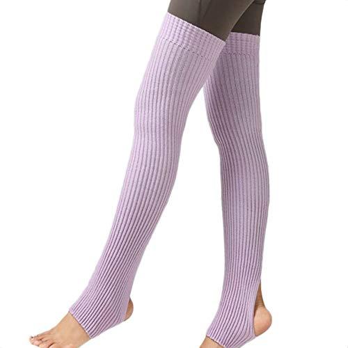 1 par muchachas de las mujeres calentadores de la pierna de los calcetines de la pierna de ballet calcetines medias de ballet Yoga largo Footless calcetines de invierno de baile de otoño