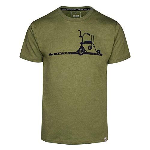 Spitzbub Herren T-Shirt Kurzarm Shirt Grün Erich