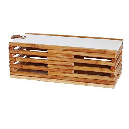 Estante flotante Cable Caja ordenada caja de almacenamiento enrutador de madera sólida...