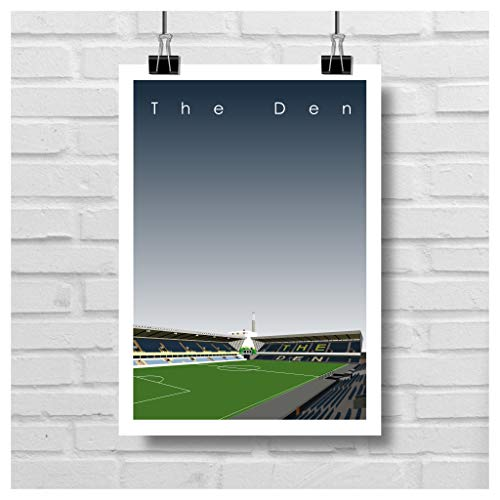 Home.Ground.Prints Wall Art Graphic Design Football Stadium Gift Print Collection - Millwall FC 'The Den' MFC