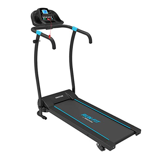 PRIXTON Run Fit RF100 - Cinta de Correr Electrica Plegable/Cintas de Andar Electricas Plegables con Velocidad e Inclinacion Regulable, Soporte Tablet/móvil, Pulsómetro y Pantalla LED