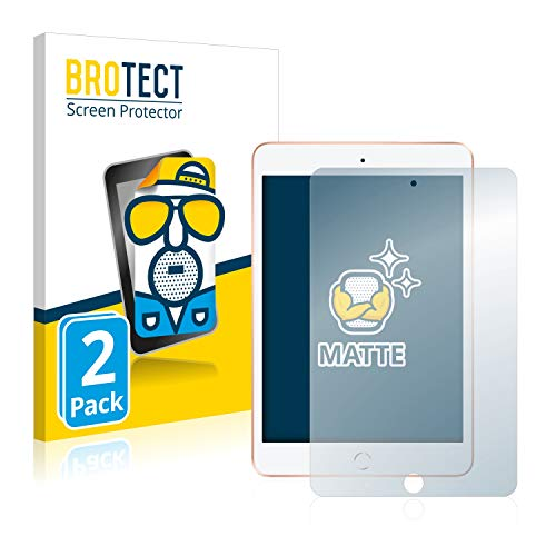 BROTECT 2X Entspiegelungs-Schutzfolie kompatibel mit Apple iPad Mini 5 2019 (5. Generation) Bildschirmschutz-Folie Matt, Anti-Reflex, Anti-Fingerprint