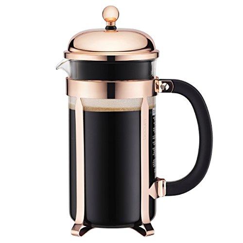 Bodum - 11652-18 - Chambord - Cafetera 8 Tazas - 1,0 l - Color Cobre