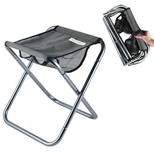 Taburete de camping plegable portátil ultraligero grande para pesca al aire libre,...