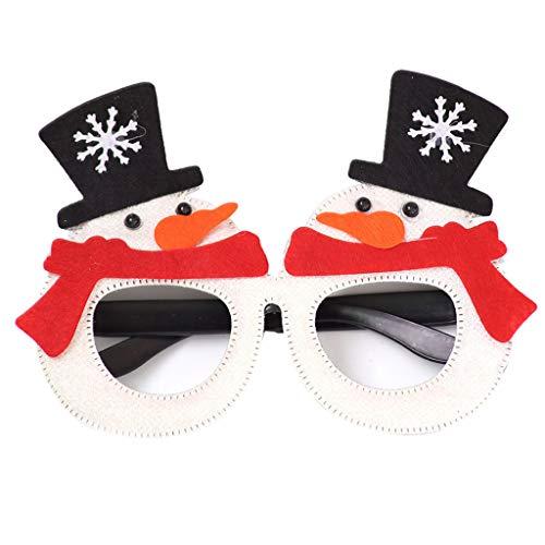 5 Stks Volwassen Kids Kerst Bril Frame Leuke Cartoon Xmas Boom Antler Glitter Pailletten Kostuum Bril Vakantie Party Favors L