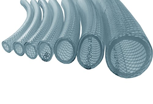 E-BEST-OFFER 25MM CLEAR BRAIDED,REINFORCED HOSE(ALL LENGTHS AVAILABLE) SENT FROM UK STOCK! (3M)