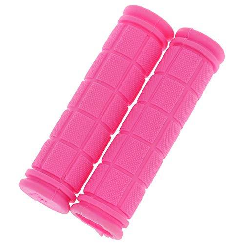 Houer rubberen fietsstuurgrepen Cover MTB Mountain Fietsgrepen Anti-slip fietsen Bargrepen Fixed Gear Fiets, roze