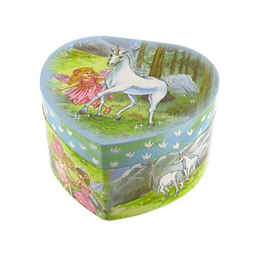 Caja de música para joyas / joyero musical de madera en forma de corazón con hada bailadora (Ref: 22111) - El vals de Amélie Poulain - Amélie - El fabuloso destino de Amélie Poulain (Yann Tiersen)