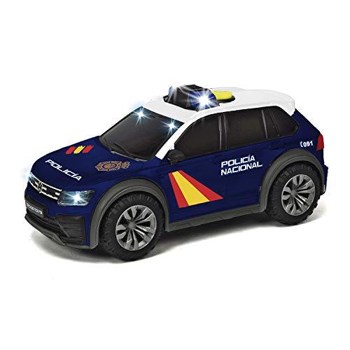 Dickie - Policía Nacional Vehículo SUV Volkswagen Tiguan 25 cm, luz y sonido (Dickie 1154013)
