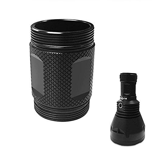 Flashlight Accessories - Ochoos BLF GT Flashlight DIY Short Body Tube Spare Battery Tube
