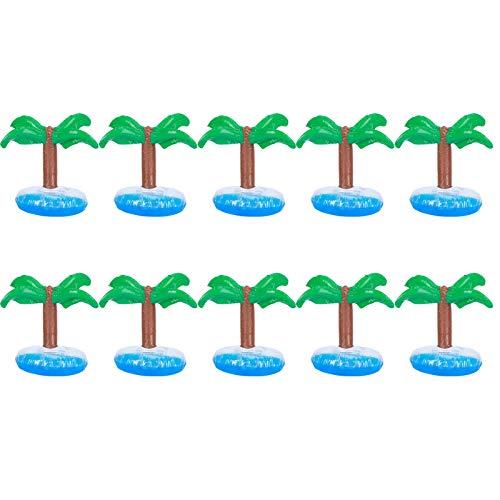 Fdit Soporte de Bebida Inflable de Material plástico de PVC, Soporte de Taza Flotante de PVC de tamaño pequeño, Soporte de Taza Flotante para Piscina, Fiesta, Playa, 10 Piezas