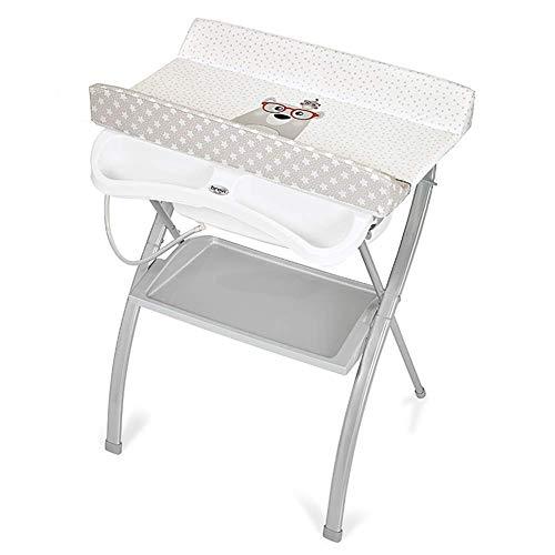 Living Equipment Table Mesa para bebés Estación de cuidado para recién nacidos plegable Organizador portátil para guardería Mesa de masaje para bañera para recién nacidos con patas cruzadas (Color: