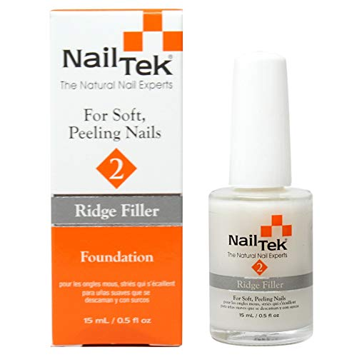 Nail Tek Foundation II Ridge Filling Nail Strengthener for Soft Peeling Nails 0.5oz