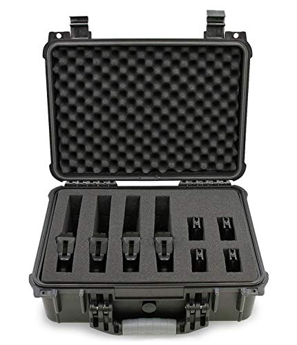 CASEMATIX 16' Customizable 4 Pistol Multiple Pistol Case - Waterproof & Shockproof Hard Gun...