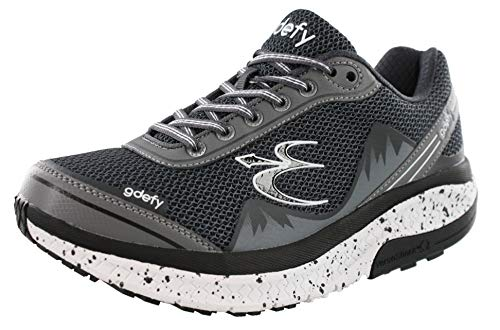 Gravity Defyer Men's G-Defy Mighty Walk Men's Walking Shoes Gray 11.5 W US - Recovery Pain Relief Shoes for Heel Spurs, Foot Pain Shoes for Plantar Fasciitis
