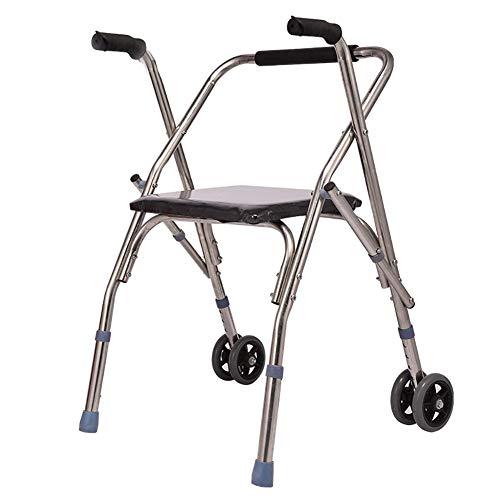 HWLL Gehhilfe Hochleistungsstahl Bariatric Rollator, Laden Sie 150 Kg, Höhenverstellbare Mobilitätshilfe für Ältere Menschen, Standard Walker