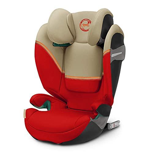 CYBEX Gold Kinder-Autositz Solution S i-Fix, Für Autos mit und ohne ISOFIX, 100 - 150 cm, Ab ca. 3 bis ca. 12 Jahre, Autumn Gold