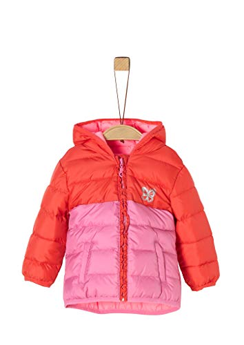 s.Oliver RED LABEL Unisex - Baby Steppjacke mit Colour Blocking pink 80