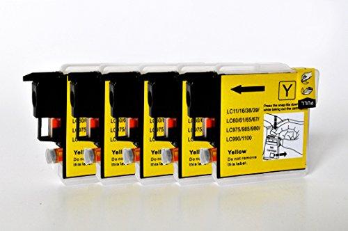 Printing Saver LC-1100/LC-980 5 GELB Tintenpatronen kompatibel für Brother DCP-145C 165C 195C 197C 375CW 383C 385C 395CN 585CW 6690CW MFC-250C 290C 490CW 5490CN 5890CN 5895CW 6490CW 790CW 990CW J615W