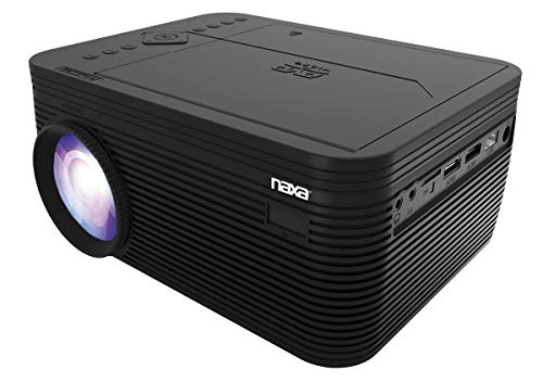 Naxa Electronics Home Theater 720P LCD Projector with Built-in DVD Player, 150-inch, Black