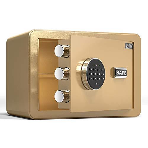 Cabinet Safes Dingfa Safe Haushalt 25cm Hohe elektronische Kennwort Büro All-Stahl-Diebstahl-Diebstahl-Safe mit Schloss (Color : B)