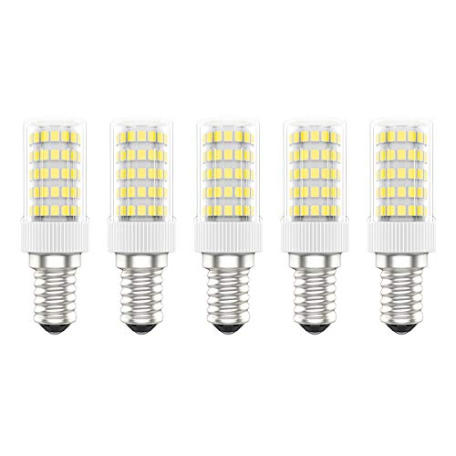 5X E14 LED Lampadine 10W LED Lampada 86 SMD 2835LEDs Bianco Caldo 3000K LED Lampadina Super Luminoso 800LM AC220V-240V