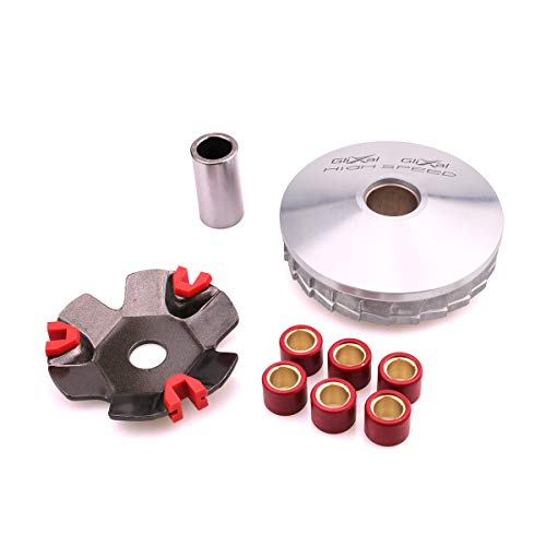Glixal ATKS-041 High Performance Racing Variator Kit with 6.5 gram Roller Weights for Chinese Scooter Moped ATV 4-Stroke GY6 50cc 80cc 100cc 139QMB 139QMA Engine Front Clutch