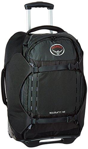 Osprey Packs Sojourn Wheeled Luggage, Flash Black, 45 L/22'