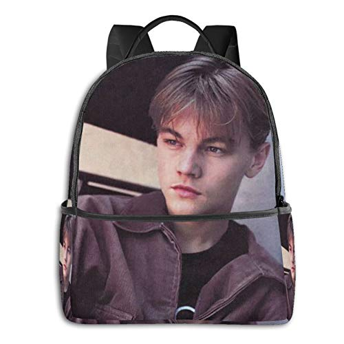 FUNNWISH Handsome Star Dicaprio Laptop Backpack Durable Laptops Backpack, Water Resistant College School Computer Bag Gifts for Men & Women Fits 14.5 Inch Notebook