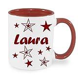 Personalisiertes/Individuelles Geschenk. Tasse Kaffeebecher Kaffee Tasse mit Namen und Sternen bedruckt - 7
