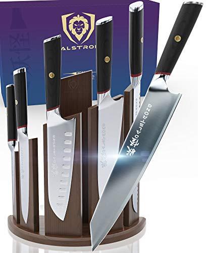 DALSTRONG 6-Piece Knife Set w/Magnetic Block - Phantom Series - Japanese High-Carbon - AUS8 Steel