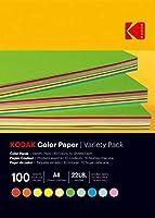 KODAK(コダック) カラーペーパー100枚(10色×10枚) バラエティパック A4サイズ