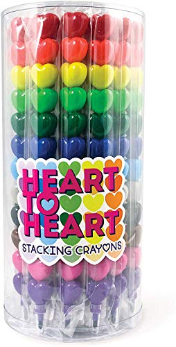 OOLY Heart to Heart Stacking Crayons - Tub of 24
