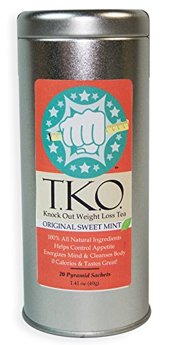 Best Tasting Weight Loss Tea, All Natural Dieter's Tea, Boosts Metabolism, Cleanses Body, Aids Digestion, Great Addition to Any Diet, T.K.O. Knock Out Tea - Mint