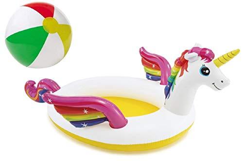 Aufblasbares Planschbecken Babypool Kinderpool Schwimmingpool Einhornplanschbecken Spraypool...