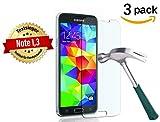 [3 Stück] CÄSAR-GLAS Schutzglas für Samsung Galaxy S5 / S5 Neo, Anti-Kratzen, Anti-Öl, Anti-Bläschen, 9H Echt Glas Panzerfolie Schutzfolie