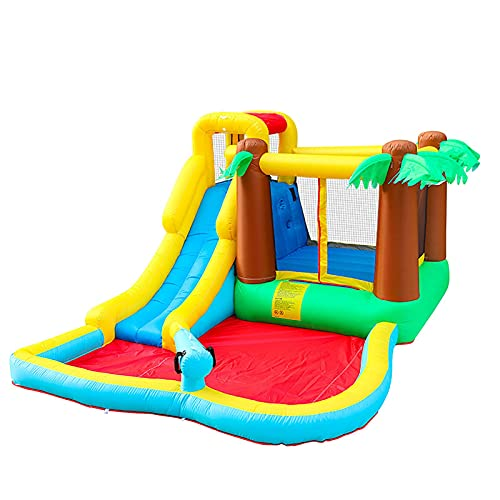 YQGOO Castillo Hinchable Inflable para niños Castillo Inflable para el hogar Trampolín Cama para Interiores y Saltos Jardín de Infantes Zona de Juegos para niños, 385X293X198cm,