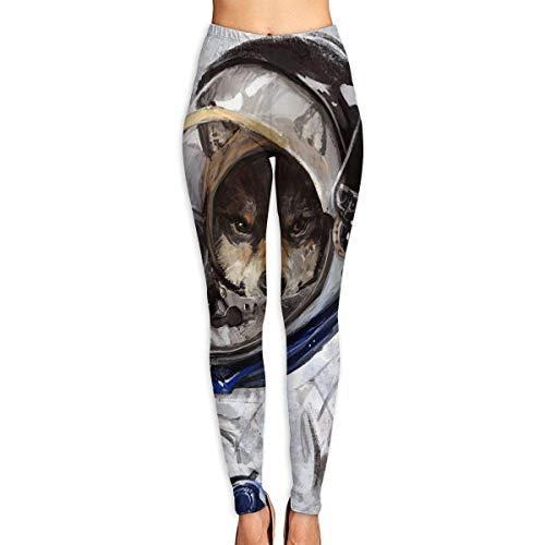 Ewtretr Yoga Pilates Hosen Fitnesshose für Damen, Space Wolf Printed Leggings Full-Length Yoga Workout Leggings Pants