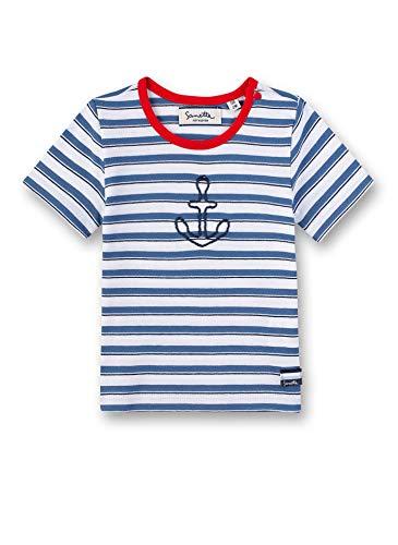 Sanetta Baby-Jungen Fiftyseven T-Shirt Langarmshirt, Weiß (White 10), 80 (Herstellergröße: 080)