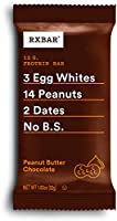 RXBAR, Peanut Butter Chocolate, Protein Bar, 1.83 Ounce (Pack of 24), High Protein Snack, Gluten Free