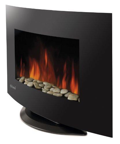 Trevidea, Caminetto elettrico da parete, con fiamme al LED e telecomando, senza etanolo, Nero (schwarz) - HO 913