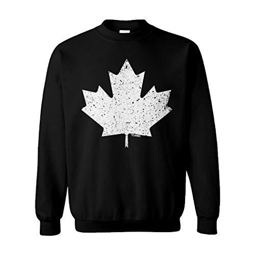 Canadian Maple Leaf - Canada Pride Unisex Crewneck Sweatshirt (Black, Small)