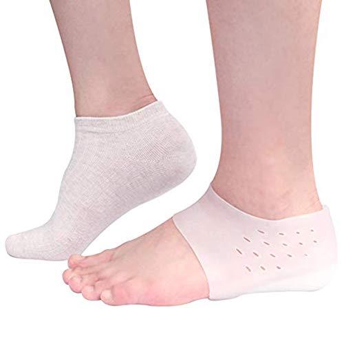 Silikon Höhe Erhöhen Einlegesohlen Fersenkissen Sohlen Unsichtbare Socken Ferse Pads Männer Schuhe Frau Einlegesohlen Schuh Unsichtbare Pad 3.5cm-1 Paar