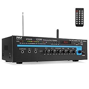 Pyle Pro PT210 120-Watt Microphone PA Mono Amplifier with 70-Volt Output
