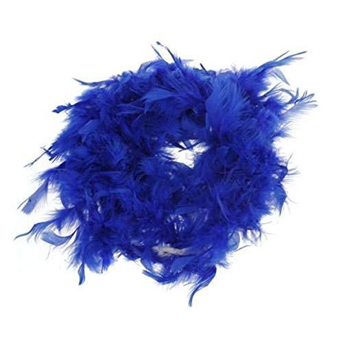 Home Holic Boa di Piume Soffici Craft Costume Dressup Matrimonio Party Deco Performance Accessorio 2 m Royal Blue