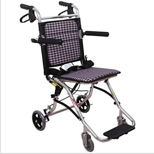 Deporte y Ocio silla de ruedas plegable portátil con la luz de la aleación de aluminio ultra ligero rápido de la rueda de lanzamiento del amortiguador trasero de la carretilla, ancianos y discapacitad
